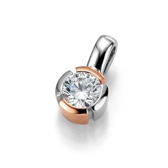 Diamantsmykke i gull med 0,25 ct W-Si -3103933