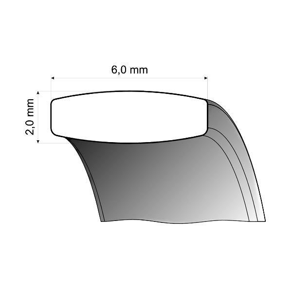 Forlovelsesringer i titan & rosé gull, 6 mm. RAUSCHMAYER - 11505310