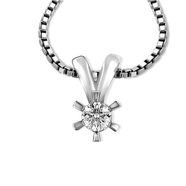 Diamantsmykke Sofia i gull med 0,15 ct W-Si-1120715