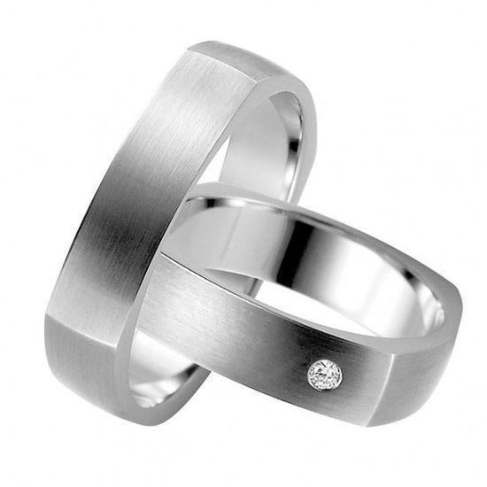 Forlovelsesringer i sølv rhodinert, 5 mm. RAUSCHMAYER-1055130