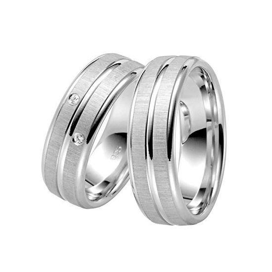 Forlovelsesringer i sølv rhodinert, 7 mm. RAUSCHMAYER -107011