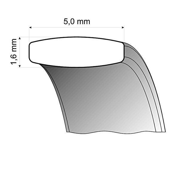 Gifteringer i stål & gult gull, 5 mm. RAUSCHMAYER - 160031