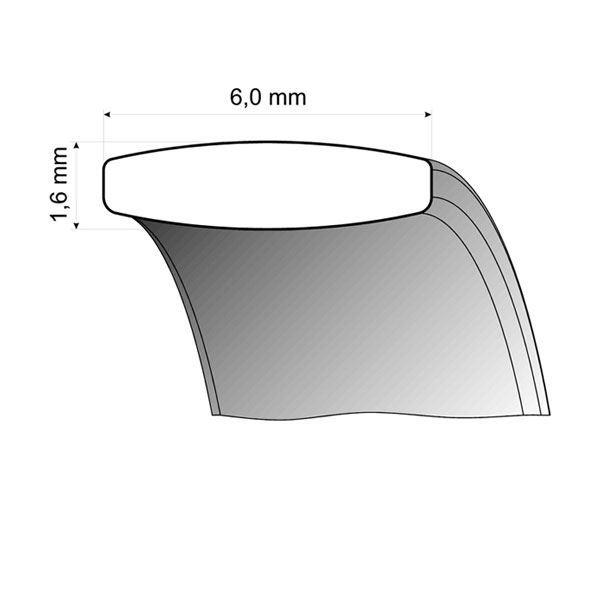 Gifteringer i stål & rødt gull, 6 mm. RAUSCHMAYER - 160024