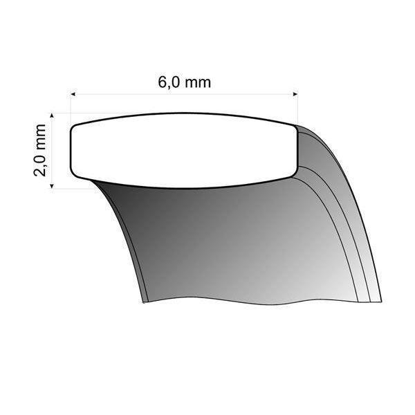 Gifteringer i titan & palladium, 6 mm. RAUSCHMAYER - 1151013