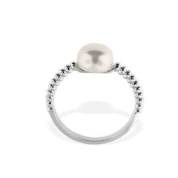 Gullring med perle - 613142