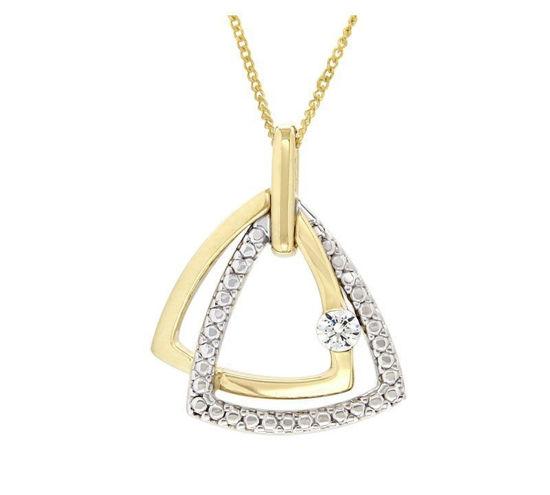 Smykke i gult & hvitt gull med zirkonia - 292303