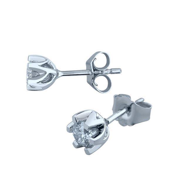 Sitara diamant øredobber med  2/0,35 ct W-Si-422135