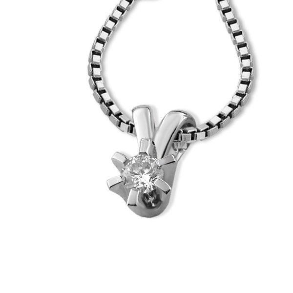 Diamantsmykke Sofia i gull med 0,10 ct W-Si-1120710