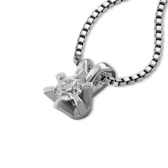 Diamantsmykke Sofia i gull med 0,20 ct W-Si-1120720