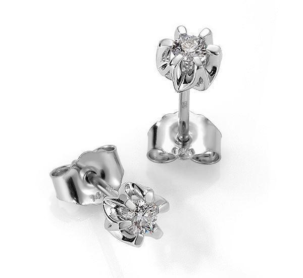 Sitara diamant øredobber med 2/0,18 ct W-Si-422118