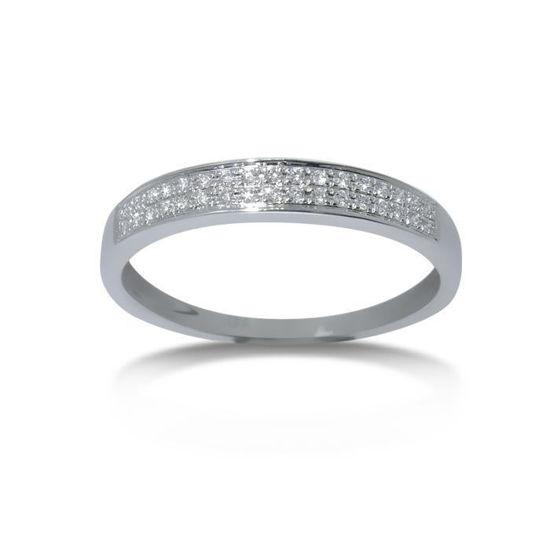 Diamantring i hvitt gull med 0,08 ct W-Si-3307008