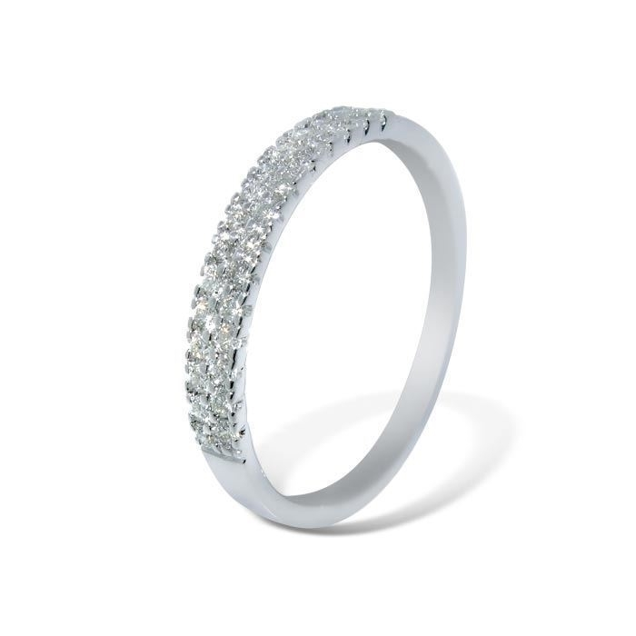 Diamantring i hvitt gull med 0,25 ct W-Si-AR01141