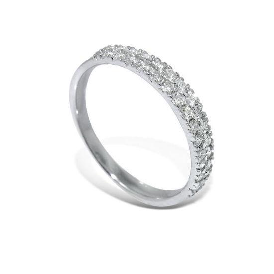 Diamantring i hvitt gull med 0,35 ct W-Si-AR10790