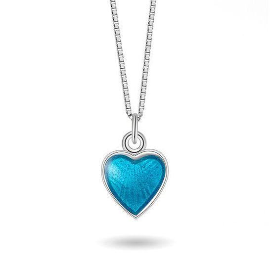 Smykke Turkis hjerte i sølv