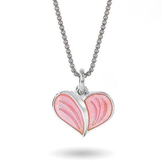 Smykke Rosa hjerte i sølv