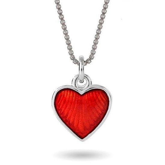 Smykke Rødt hjerte i sølv