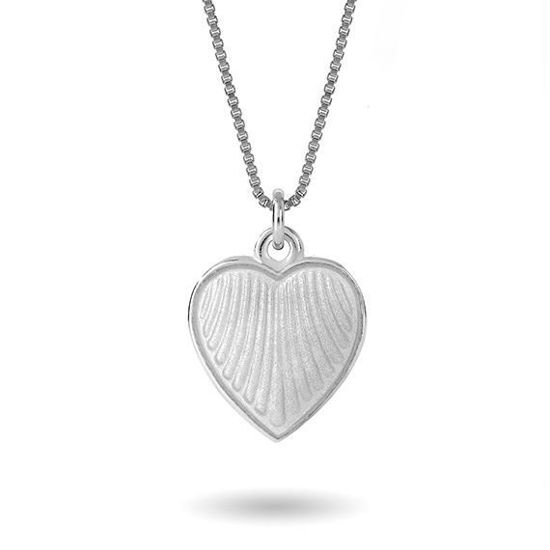 Smykke Hvitt hjerte i sølv