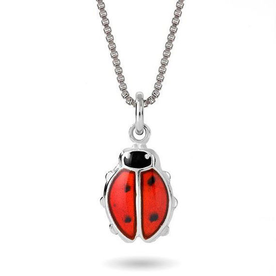 Smykke Rød marihøne i sølv