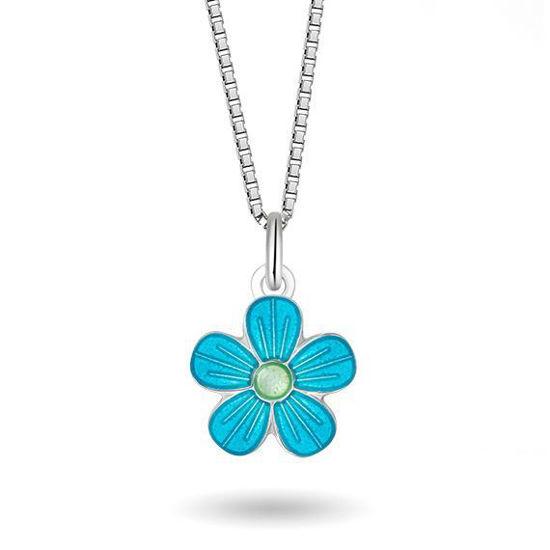 Smykke Turkis blomst i sølv