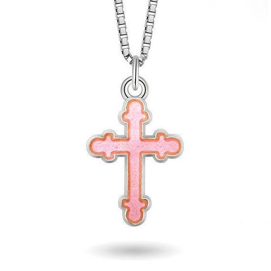 Smykke Rosa kors i sølv, til barn
