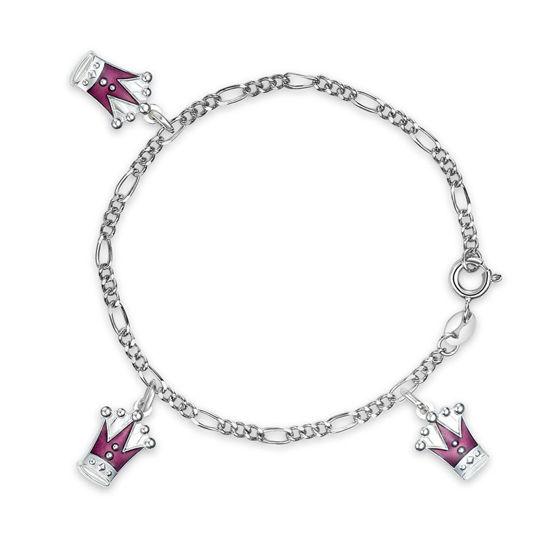 Charms-armbånd i sølv - Lilla prinsesskroner