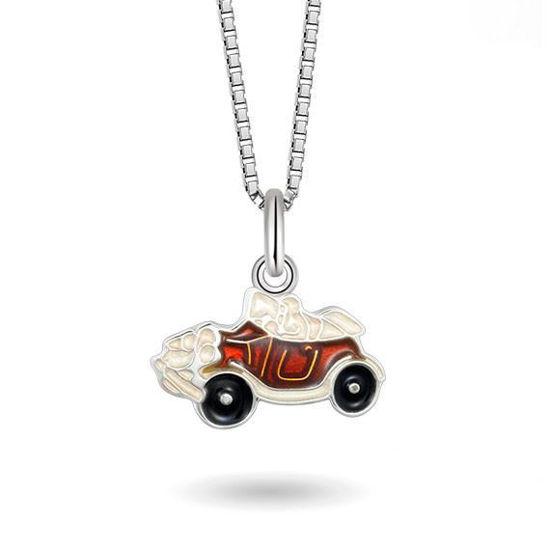 Smykke Rød veteranbil i sølv