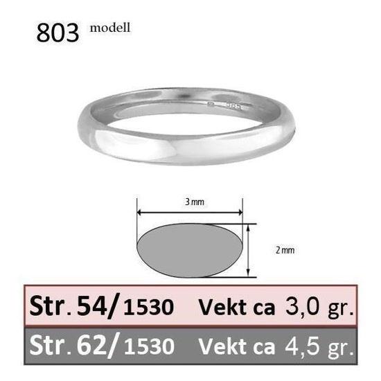 Bilde av Forlovelsesring & herre giftering Iselin 0,30ct hvitt gull, 3 mm - 1530-8503010