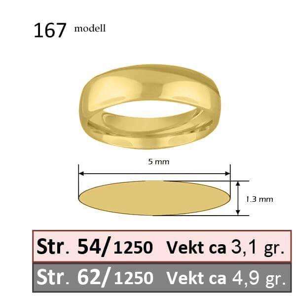 Bilde av Forlovelsesring & herre giftering Iselin 0,21ct gult gull, 5 mm  - 1250-85030700