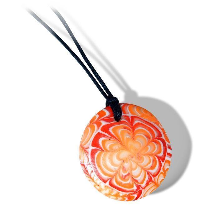 Smykke i Millefiori teknikk med krysantemum mønster -280204