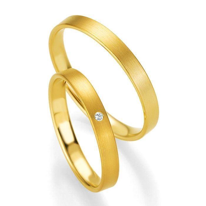 Gifteringer i gult gull 14 kt, 3 mm. PROFIL LIGHT - 4804401