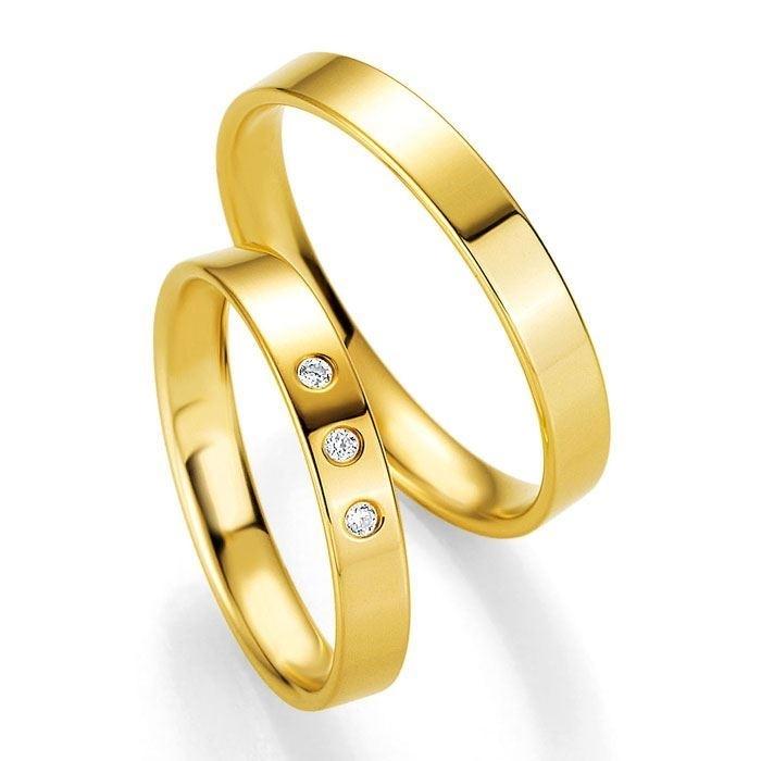 Gifteringer i gult gull 14 kt, 3.5 mm. PROFIL LIGHT - 4804402