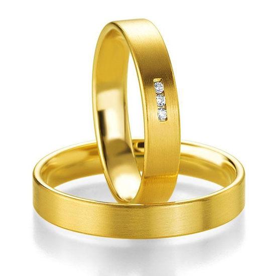 Gifteringer i gult gull 14 kt, 4 mm. PROFIL LIGHT - 480440