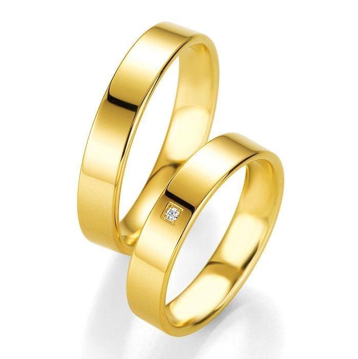 Gifteringer i gult gull 14 kt, 4.5 mm. PROFIL LIGHT - 4804404