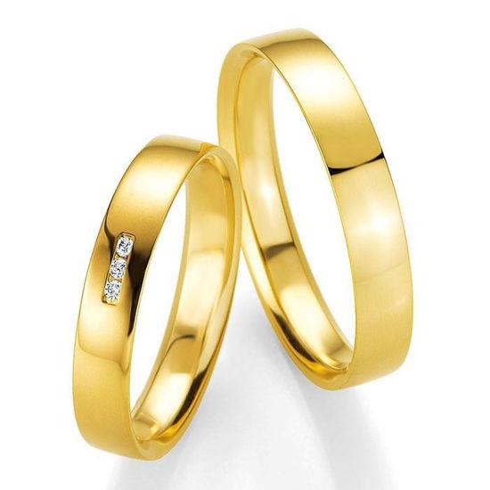Gifteringer i gult gull 14 kt, 4 mm. PROFIL LIGHT - 4804417