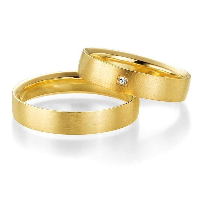 Gifteringer i gult gull 14 kt, 4.5 mm. PROFIL LIGHT - 4804418
