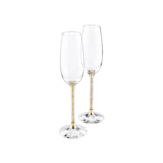 Swarovski. Crystalline Toasting Flutes, Gold Tone (Set of 2) - 5102143