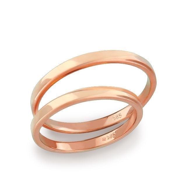 Gifteringer fra OREST i rosé gull 14kt, 2.5 mm-11525000