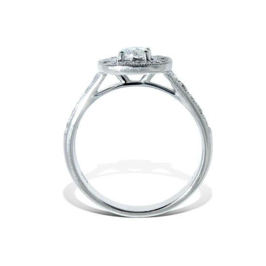 Diamantring i hvitt gull med 0,69 ct W-Si -1382668