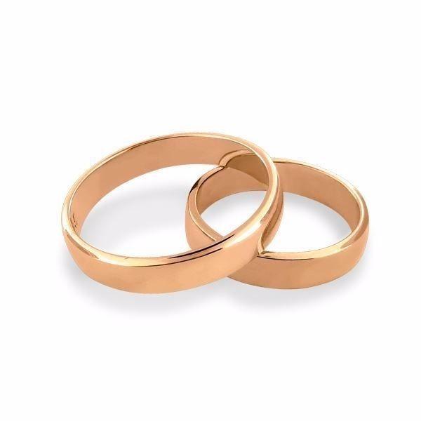 Gifteringer i rosé gull 14kt, 4,5 mm. OREST –11545000