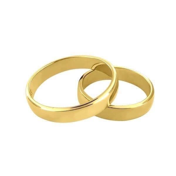 Gifteringer i gult gull 14kt, 4,5 mm. OREST – 1154500