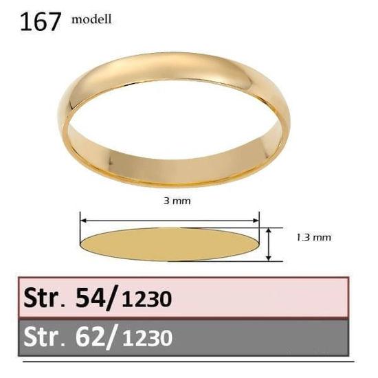 Bilde av Forlovelsesring & herre giftering Iselin 0,05ct  gult gull, 3 mm  - 1230-85010050