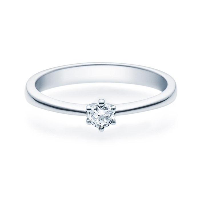 Enstens diamantring Diona 14 kt hvitt gull med 0,16 ct TW-Si.Magic Moments -18001016