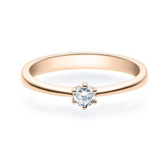Enstens diamantring Diona rødt gull med 0,16 ct TW-Si.Magic Moments - 18001016