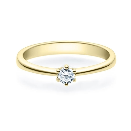 Enstens diamantring Diona gult gull med 0,16 ct TW-Si.Magic Moments - 18001016