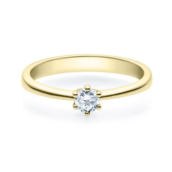 Enstens diamantring Diona gult gull med 0,20 ct TW-Si.Magic Moments -18001020