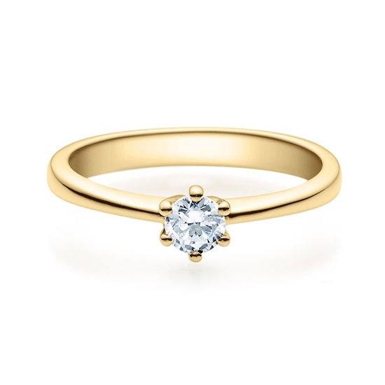 Enstens diamantring Diona 14 kt gult gull med 0,25 ct TW-Si.Magic Moments -18001025