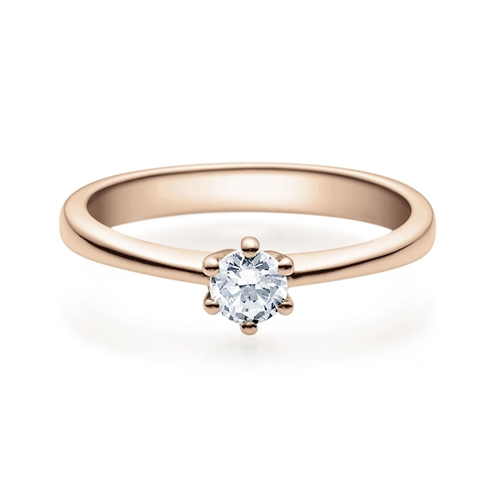 Enstens diamantring Diona 14 kt rødt gull med 0,25 ct TW-Si.Magic Moments -18001025