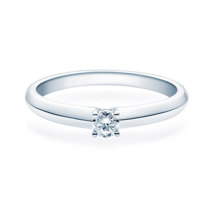 Enstens diamantring Elissa m/ 0,16 ct i 14kt gull. TW-Si. -18004016