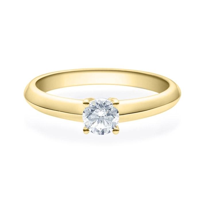 Enstens diamantring Elissa m/0,40 ct i 14kt gull. TW-Si. -18004040