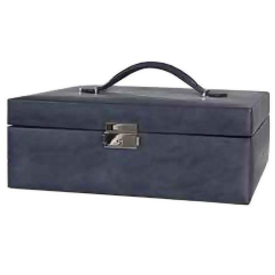 Smykkeskrin blå/sort bunadskrin - 5070
